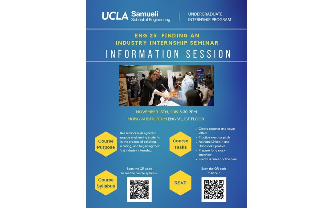 ENG 23 Info Session Flyer