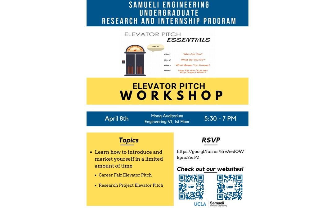 Elevator Pitch Workshop
