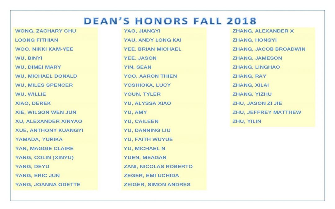 Dean's Honors Fall 2018 pg12