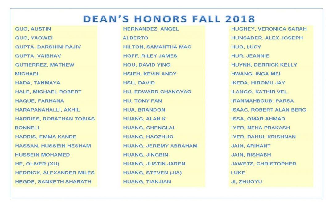 Dean's Honors Fall 2018 pg4