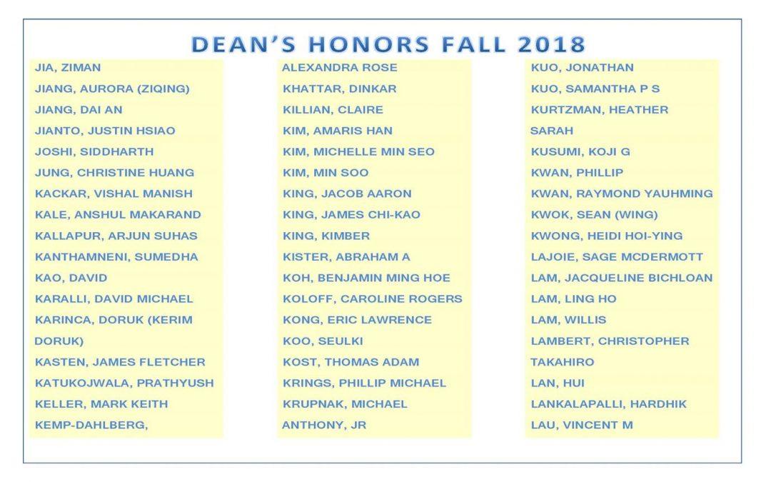 Dean's Honors Fall 2018 pg5