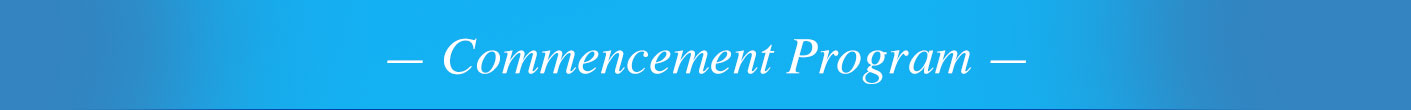 Commencement Program Title